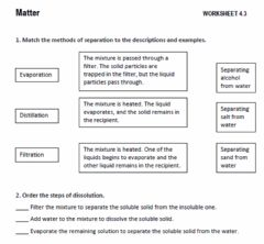 Ficha interactiva How are mixtures separated?