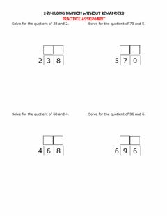 Interactive worksheet 2-by-1 Division without Remainders