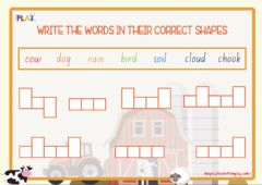 Interactive worksheet Dad's Wishing The Rain Would Come - Words Shapes