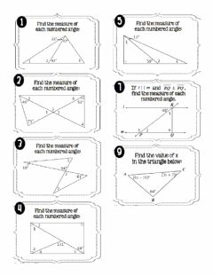 Interactive worksheet Interior Angles of Triangles