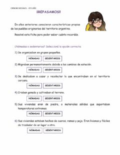 Interactive worksheet Recordamos