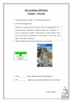 Interactive worksheet Vocabulary Chunks Part One