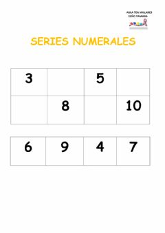 Interactive worksheet Numeros