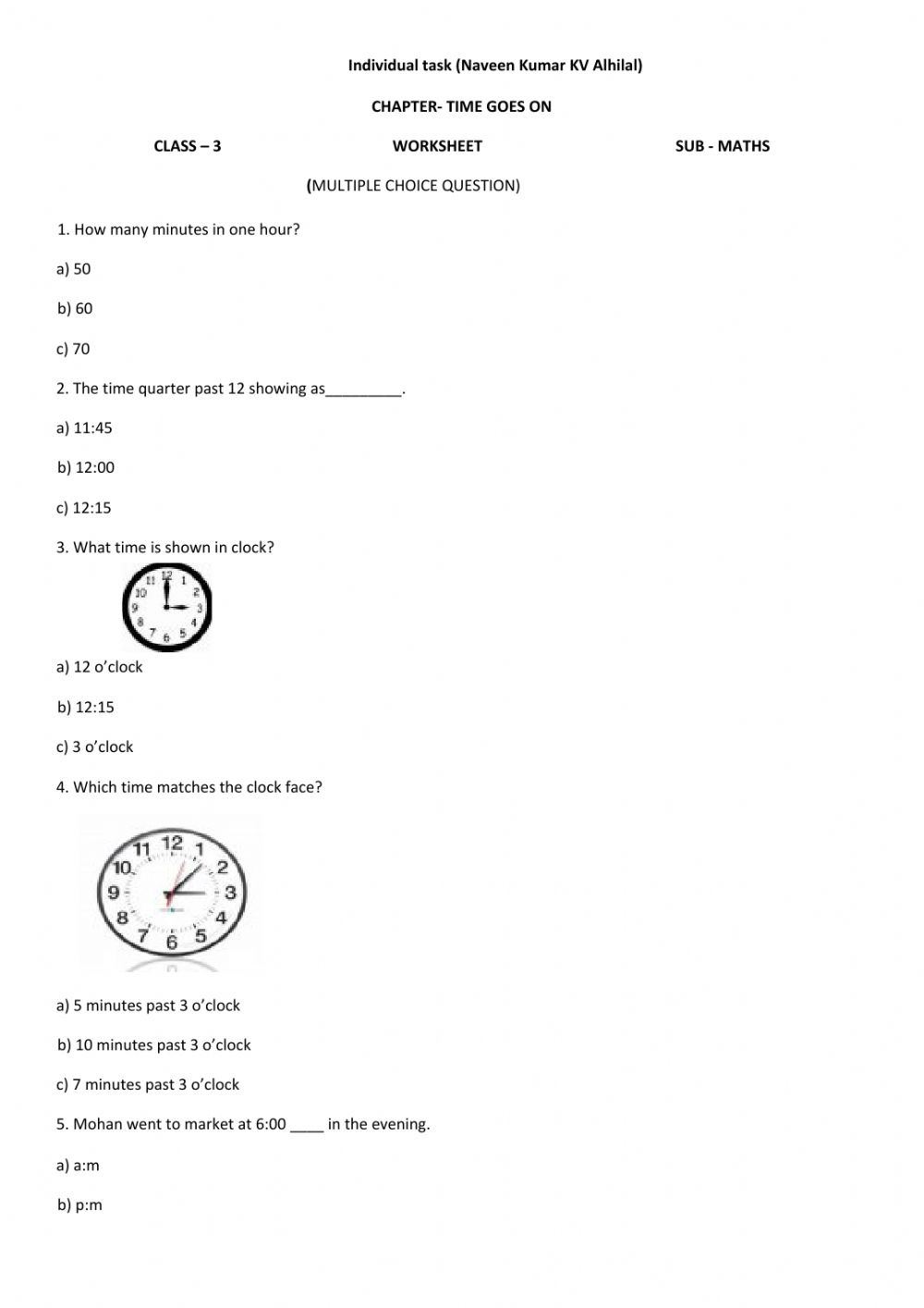 Ejercicio de Live Worksheet Math
