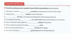 Interactive worksheet Prepositional phrases 12
