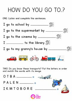 Interactive worksheet How do you go to...?