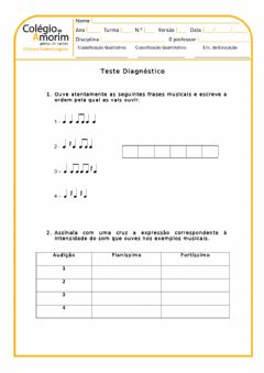 Interactive worksheet Música 5.º ano