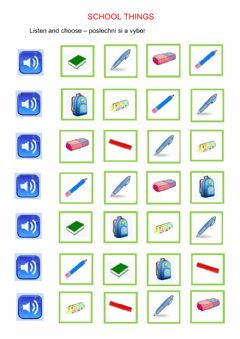 Interactive worksheet ChitCHat1-Unit1 school things