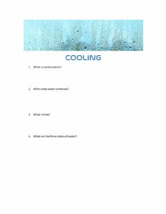 Interactive worksheet Cooling