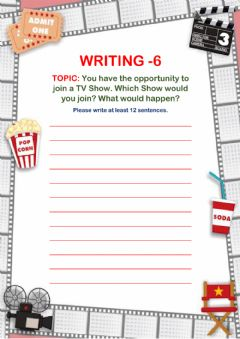 Interactive worksheet Writing-6 for 6th Grades