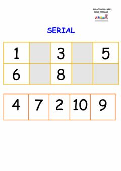 Interactive worksheet Series de numeros