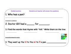 Interactive worksheet Jill and Bill Literacy Practice