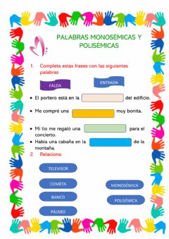 Interactive worksheet Polisemia