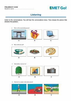 Interactive worksheet Preliminary Exam