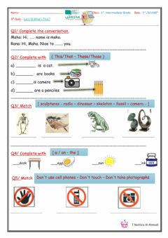 Interactive worksheet Super Goal 1unit 3