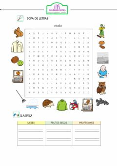 Interactive worksheet Sopa de otoño