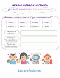 Interactive worksheet Repaso profesiones 1