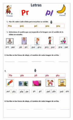 Interactive worksheet Pl-pr