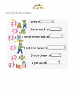 Interactive worksheet Routines 2