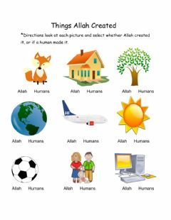 Ficha interactiva Things Allah Created