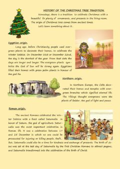 Interactive worksheet History of Christmas Tree