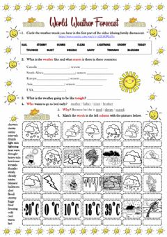 Interactive worksheet Weather Types