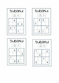 Interactive worksheet Sudoku 4x4