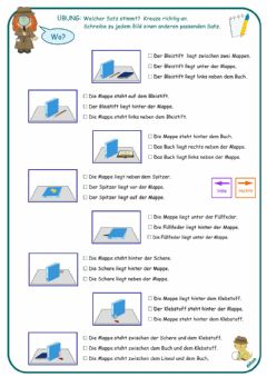 Interactive worksheet Prapositionen