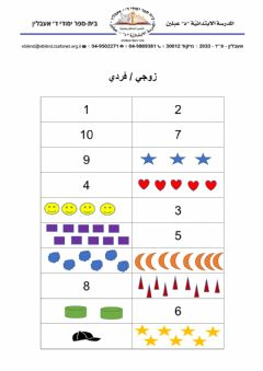 Interactive worksheet زوجي- فردي