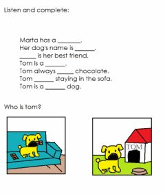 Interactive worksheet Marta's dog-Reading comprehension