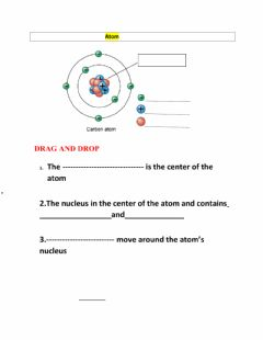 Interactive worksheet Atoms