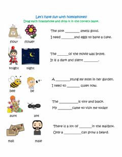 Ficha interactiva Let's have fun with homophones