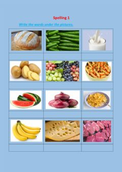 Interactive worksheet Spelling w.pictures