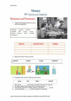 Interactive worksheet Money BY REGINALD GIBBONS