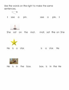 Interactive worksheet Making sentences