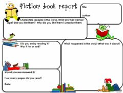 Interactive worksheet Fiction book report