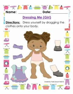 Interactive worksheet Dressing Me (Girl)
