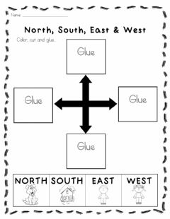 Interactive worksheet North South East and West