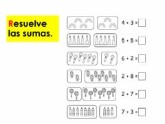 Interactive worksheet Sumas sencillas