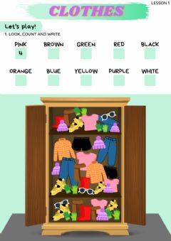 Interactive worksheet Lesson 1 - clothes