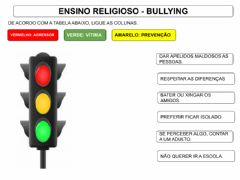 Interactive worksheet Semáfaro do bullying