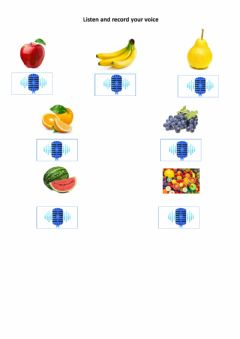 Interactive worksheet Chinese Fruits