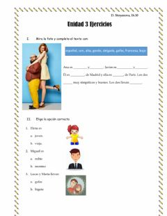Interactive worksheet Ejercicios 16.10.20