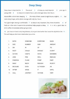 Interactive worksheet PET for Schools Reading part 5