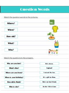 Interactive worksheet Question Words (pre-A1)