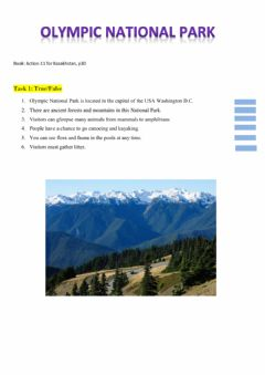 Ficha interactiva Olympic National Park