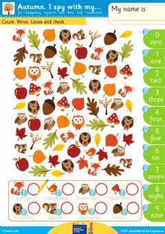 Interactive worksheet I spy with Autumn