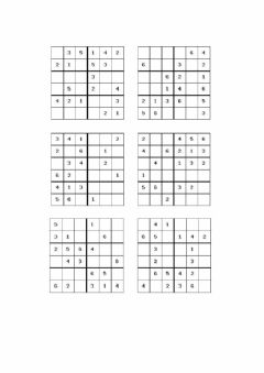 Interactive worksheet Sudoku 6x6