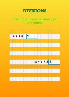 Interactive worksheet Divisions 1 xifra