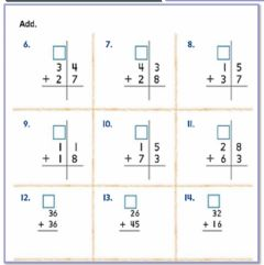 Ficha interactiva Adding two digit numbers